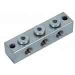 6x6 Smeernippelblok staal verzinkt M10x1 2 x Bev.gat.