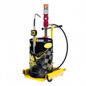"""Pneumatische olie set 3:1, 50-60 ltr., incl 3 mtr. 1/2"""" slang, digitale afgifte meter op rijwagen"""