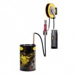 Pneumatische wandmontage olie set 5:1, 750-1500 ltr., incl. Haspel 15 mtr., digitale afgifte meter