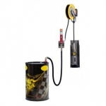 Pneumatische wandmontage olie set 5:1, 180-220 ltr., incl. Haspel 10 mtr., digitale afgifte meter