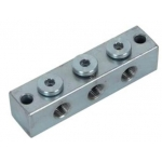 2x2 Smeernippelblok staal verzinkt M10x1 2 x Bev.gat.