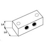 5x5 Smeernippelblok RVS 316 1/8 BSP 2x Bev.gat